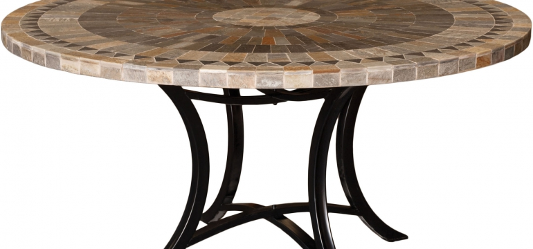 stone look outdoor table