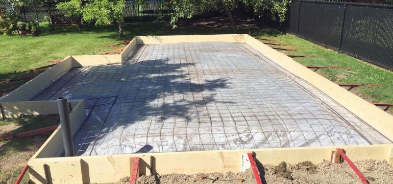 concrete slab foundation