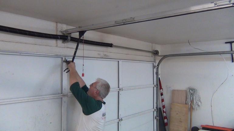 roller door motor installation